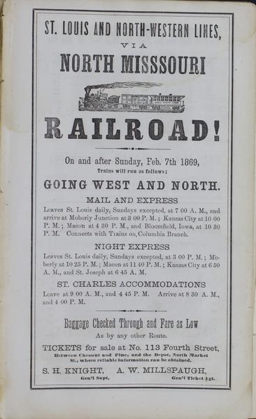 1869 City Directory