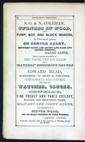 1842 City Directory
