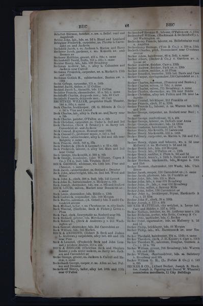 1859 City Directory