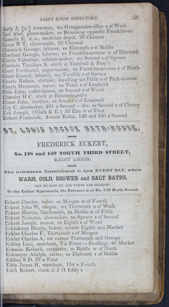 1845 City Directory