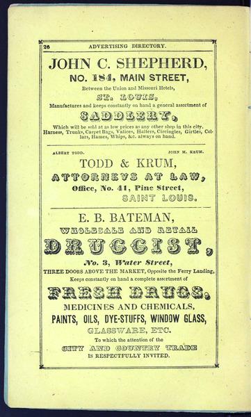 1842 City Directory
