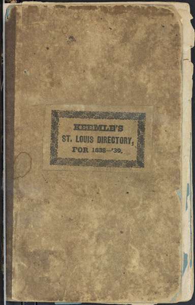 1838 City Directory