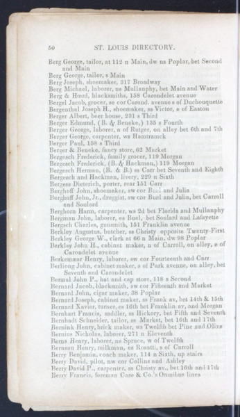 1851 City Directory